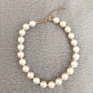 Cream Faux-Pearl Choker Necklace